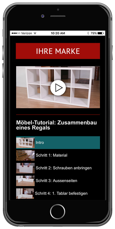 TuComm - Innovative Video Tutorials - App Moebel